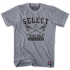 Select Crossed Sticks T-shirt in Grey by Tribe Lacrosse