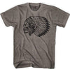Skull Headress Lacrosse T-shirt in Coffee by Tribe Lacrosse