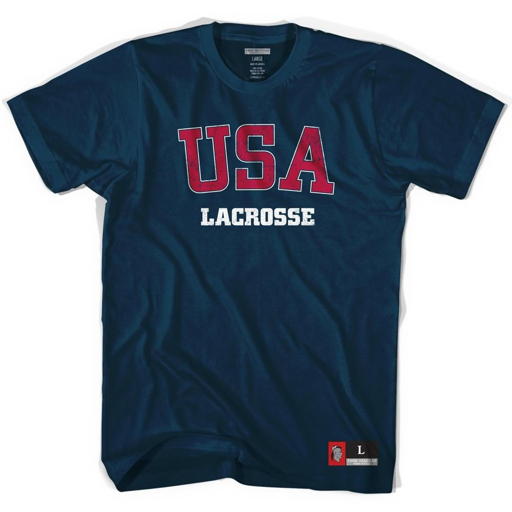 USA Lacrosse T-shirt in Navy by Tribe Lacrosse