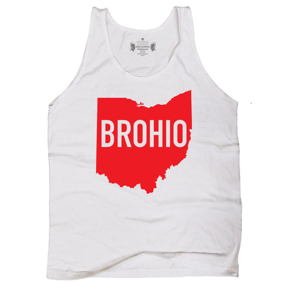Ohio Brohio Lacrosse Tank Top in Cool Grey by Tribe Lacrosse