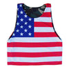 American Flag and Army Camo Lacrosse Sublimated Pinnie in Army by Tribe Lacrosse