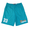 Flint Tropics #33 Lacrosse Shorts in Blue by Tribe Lacrosse