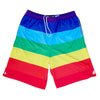 Rainbow Flag Lacrosse Sublimated Shorts in Rainbow by Tribe Lacrosse
