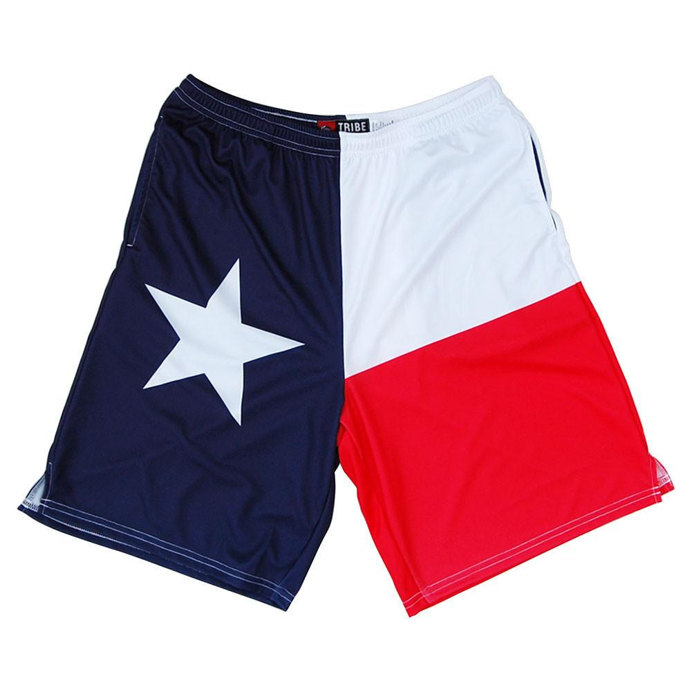 Texas Flag Lacrosse Shorts in Navy by Tribe Lacrosse
