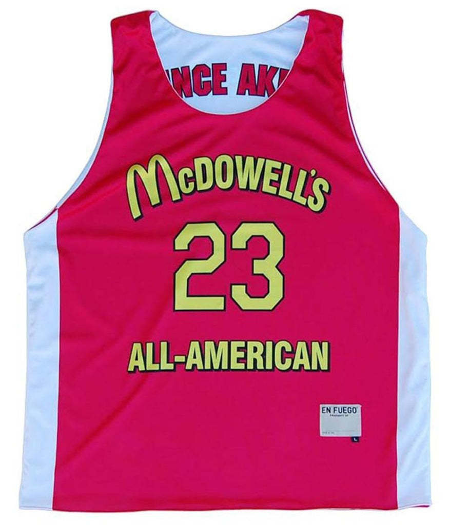 McDowell's All-American Sublimated Basketball Reversible in Red by Billy Hoyle