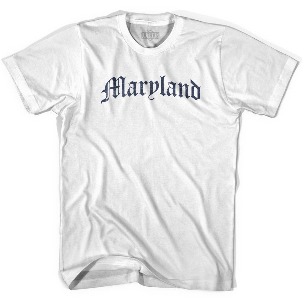 Womens Maryland Old Town Font T-shirt By Ultras
