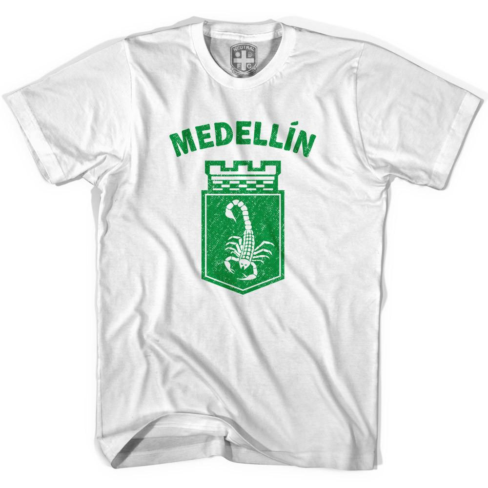Medellin Scorpion Soccer Crest T-shirt in White by Neutral FC