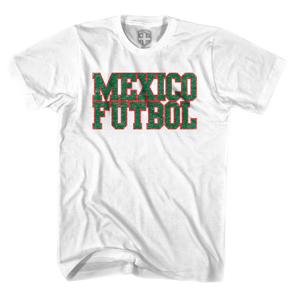 Mexico Futbol Nation Soccer T-shirt in White by Neutral FC