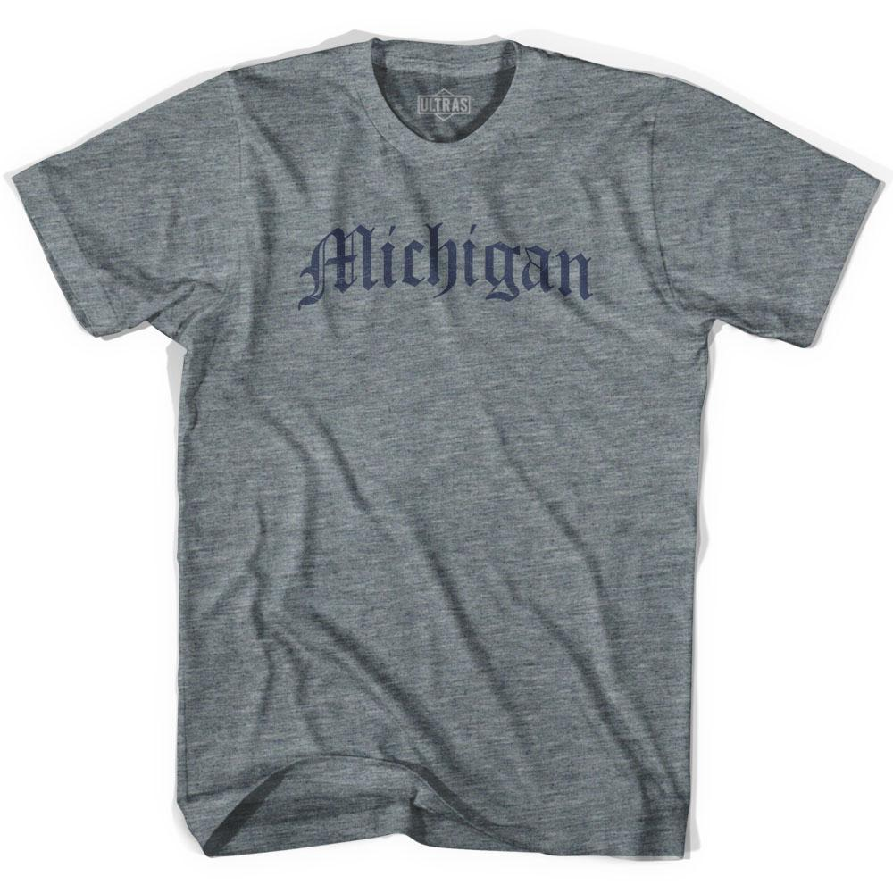 Womens Michigan Old Town Font T-shirt by Ultras