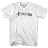 Womens Montana Old Town Font T-shirt By Ultras