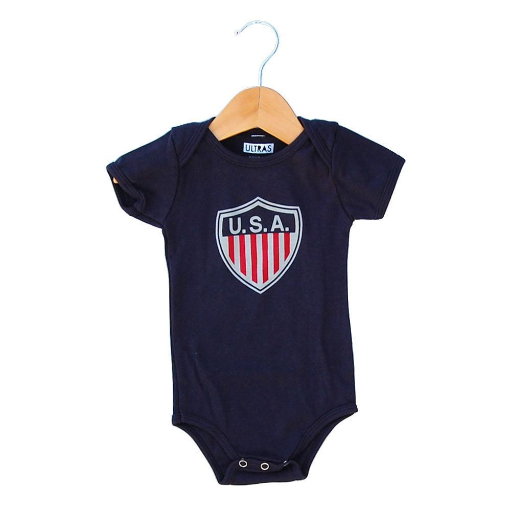 Infant USA Onesie in Navy by Neutral FC