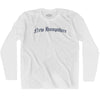 New Hampshire Old Town Font Long Sleeve T-shirt By Ultras