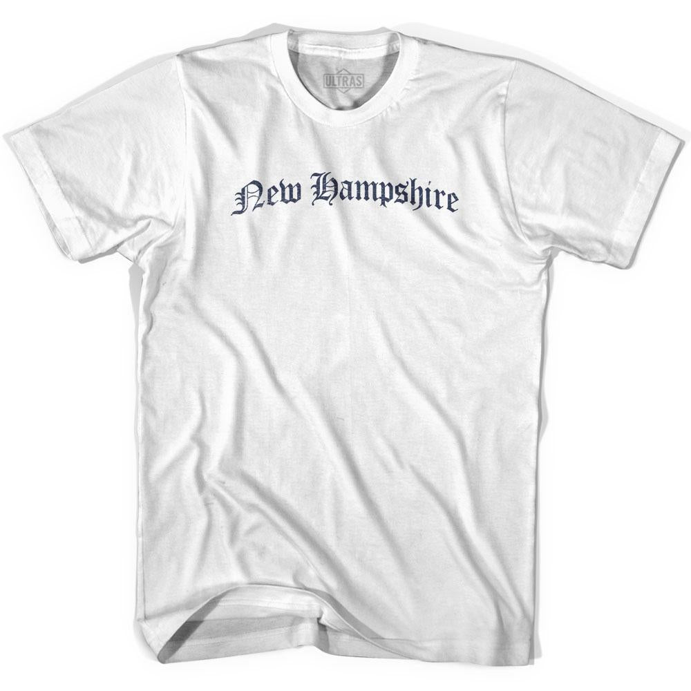 Womens New Hampshire Old Town Font T-shirt By Ultras