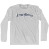 New Mexico Old Town Font Long Sleeve T-shirt