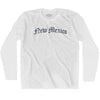 New Mexico Old Town Font Long Sleeve T-shirt By Ultras