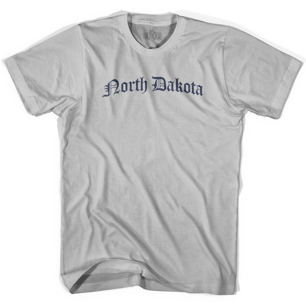 North Dakota Old Town Font T-shirt by Ultras