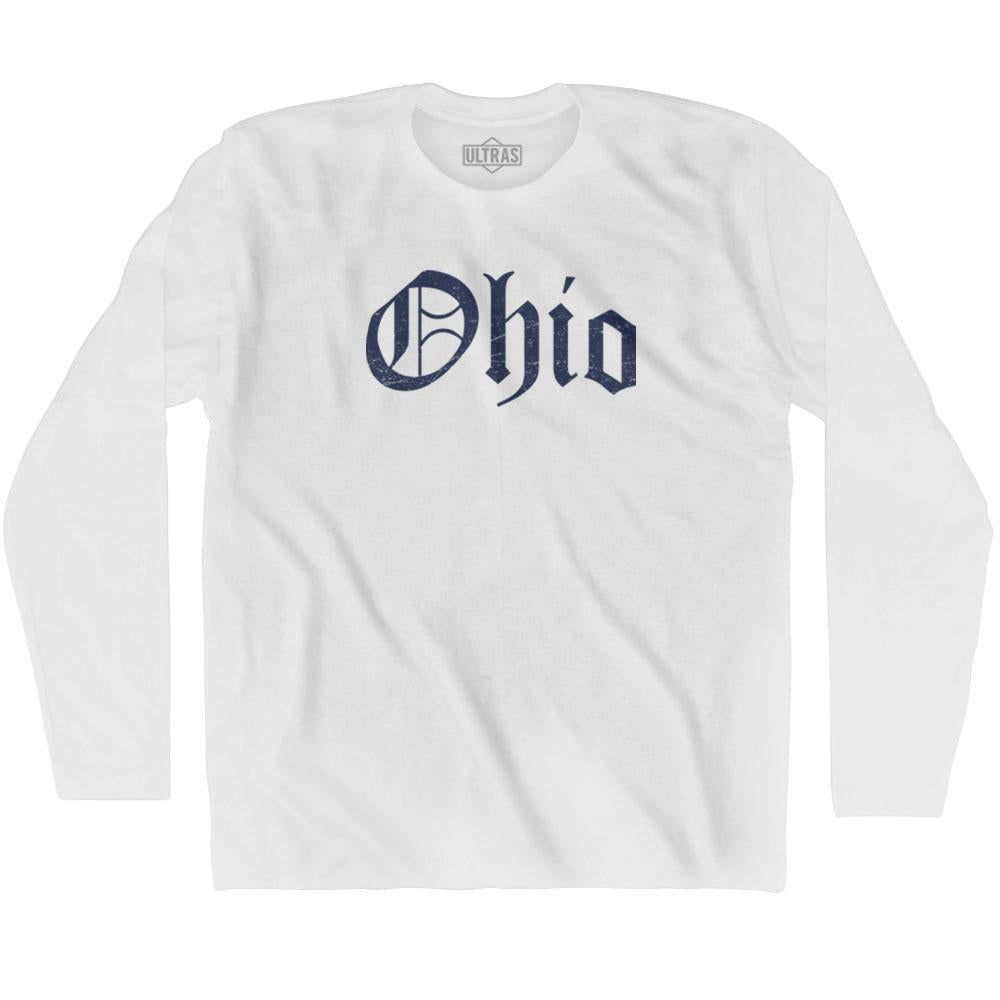 Ohio Old Town Font Long Sleeve T-shirt By Ultras