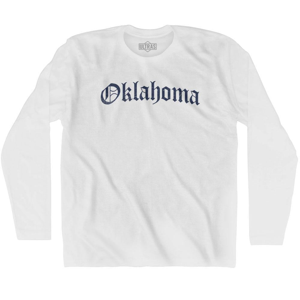 Oklahoma Old Town Font Long Sleeve T-shirt By Ultras