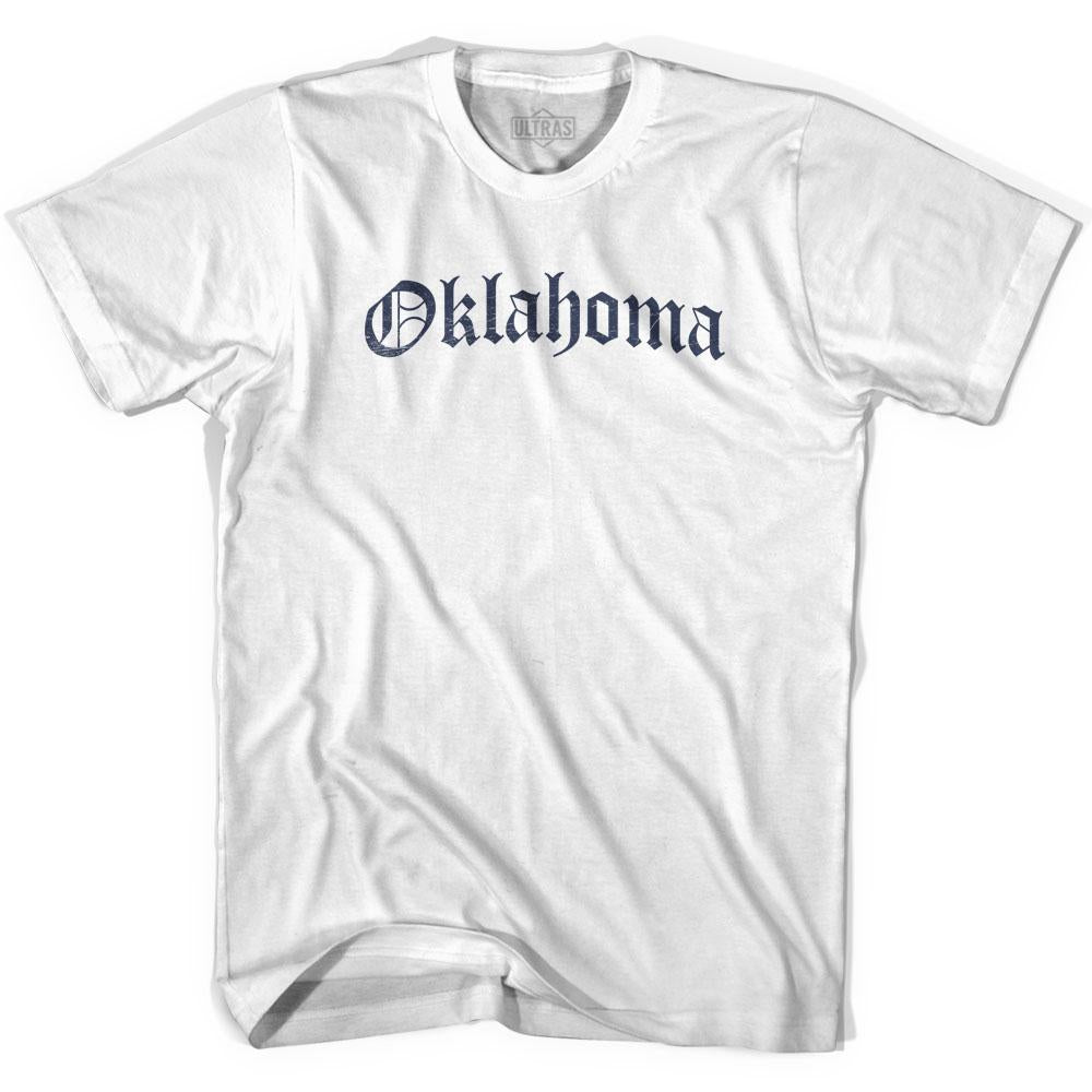 Womens Oklahoma Old Town Font T-shirt By Ultras