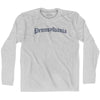 Pennsylvania Old Town Font Long Sleeve T-shirt