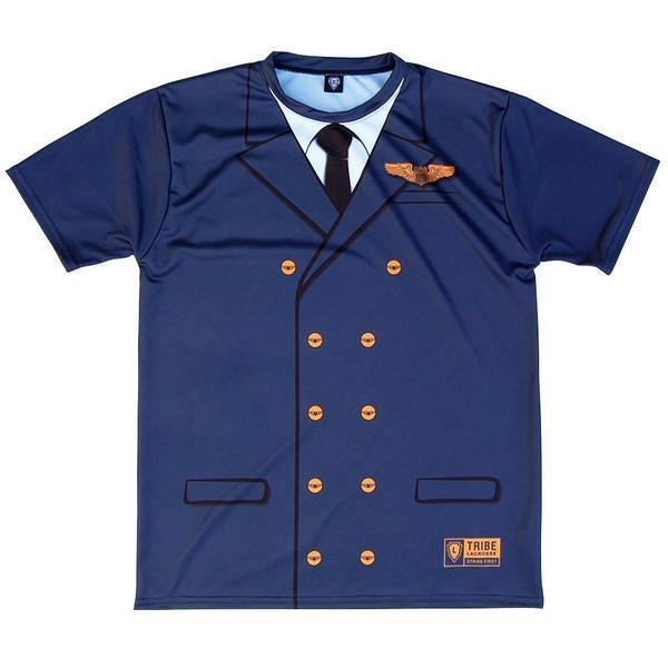 Plane Pilot Shooter Shirt in Navy by Tribe Lacrosse