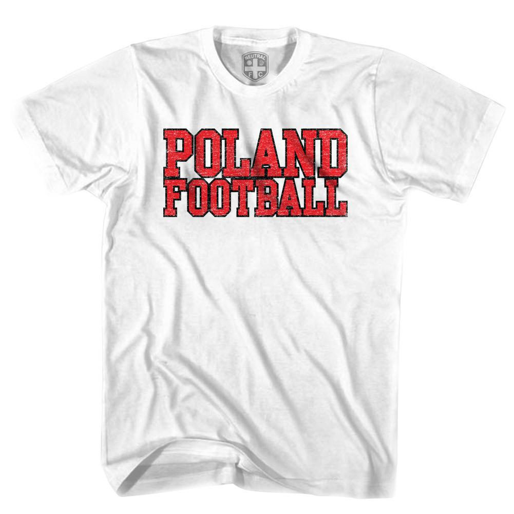 Poland Football Nations T-shirt in White by Neutral FC