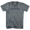 Rhode Island Old Town Font V-neck T-shirt by Ultras