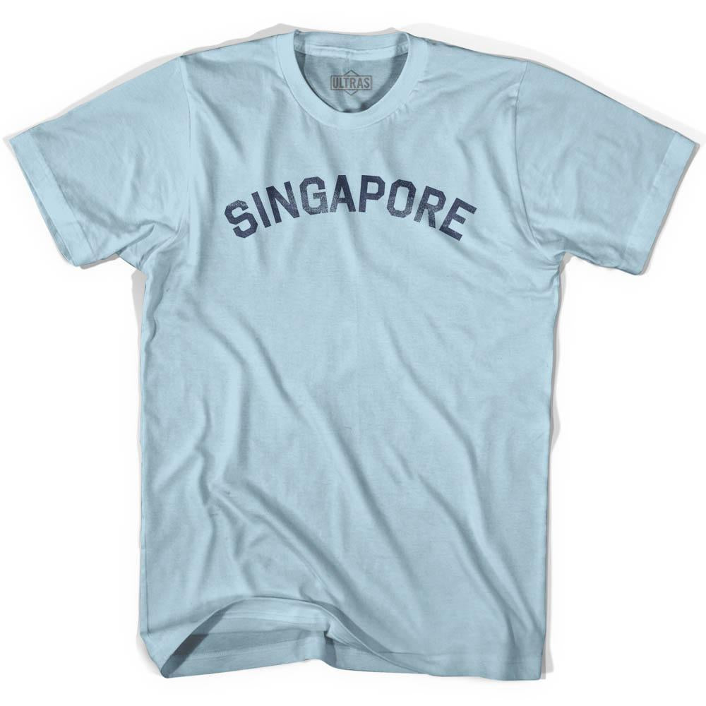 Singapore Vintage City Adult Cotton T-shirt by Ultras