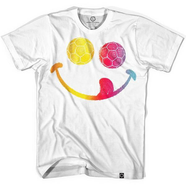 Smiley Face T-shirt in White by Neutral FC