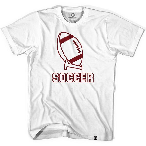 Soccer off the Tee T-Shirt in White by Neutral FC