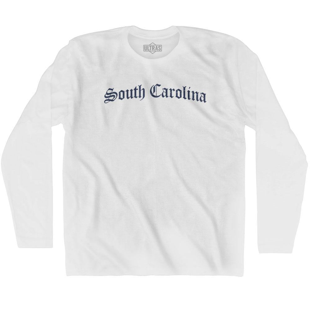 South Carolina Old Town Font Long Sleeve T-shirt By Ultras
