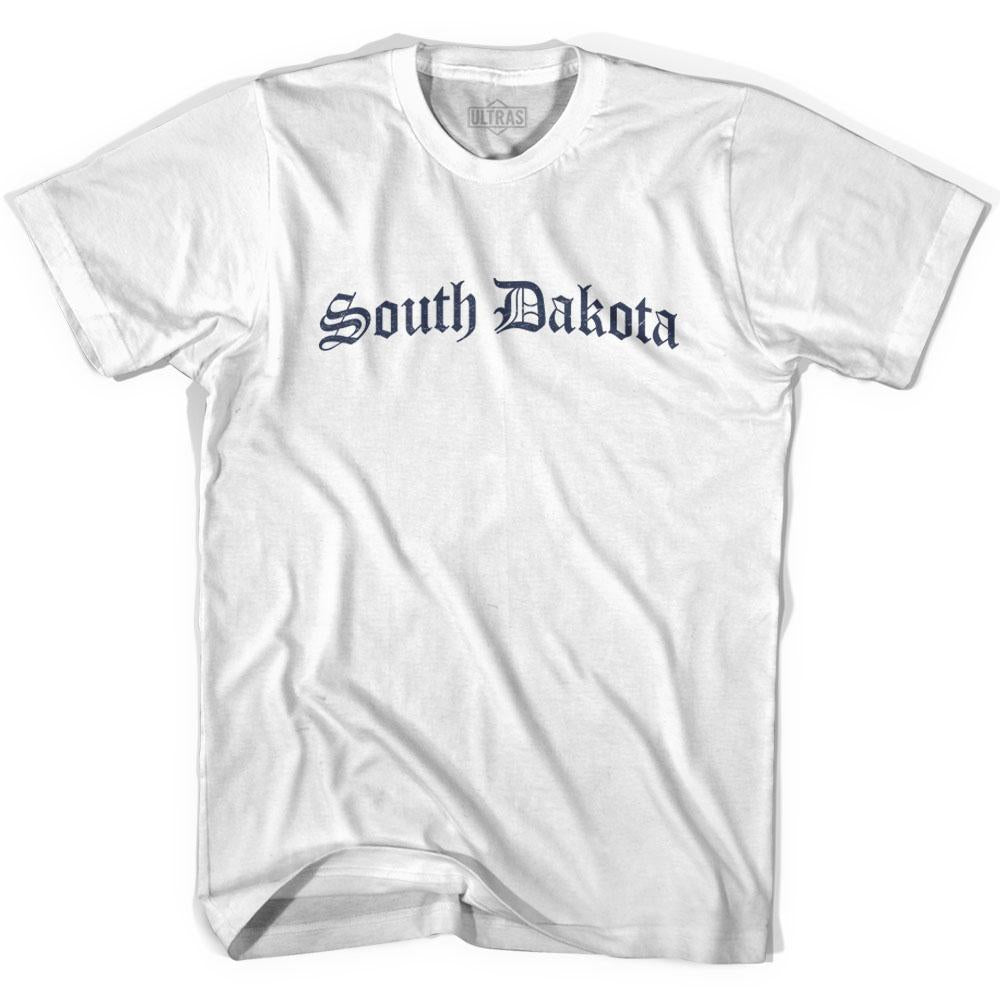 South Dakota Old Town Font T-shirt By Ultras