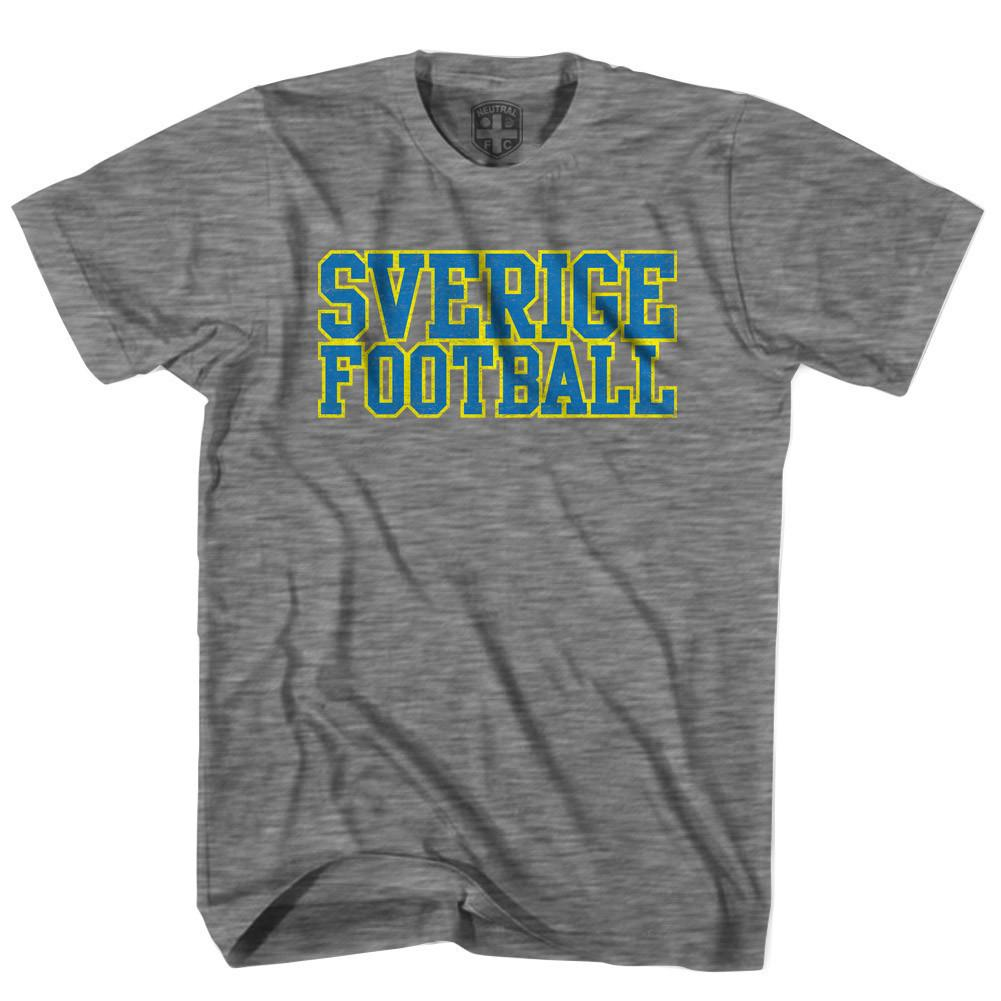 Sverige Football Country T-shirt in Grey Heather by Neutral FC