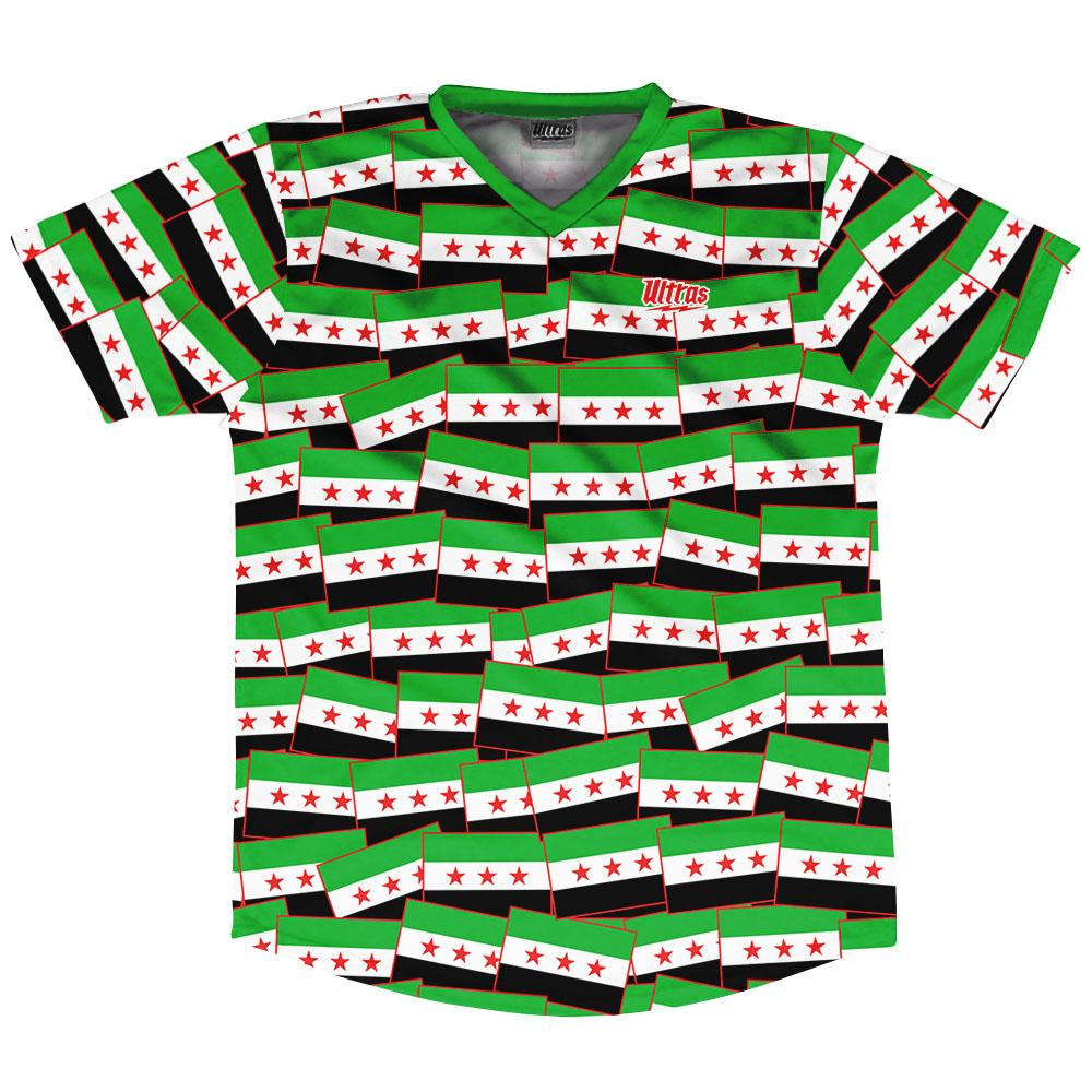 Ultras Syria Party Flags Soccer Jersey by Ultras