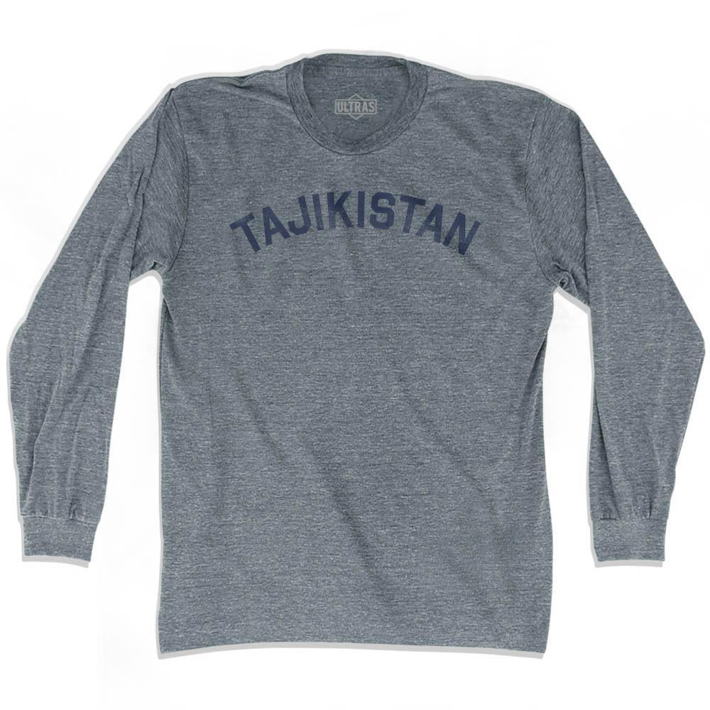 Tajikistan Vintage City Adult Tri-Blend Long Sleeve T-shirt by Ultras