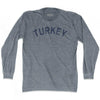 Turkey Vintage City Adult Tri-Blend Long Sleeve T-shirt by Ultras