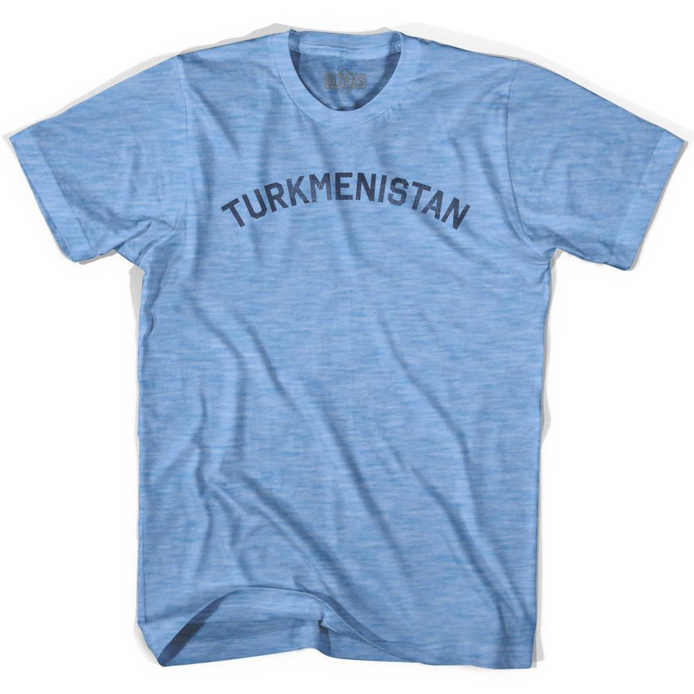 Turkmenistan Vintage City Adult Tri-Blend T-shirt by Ultras