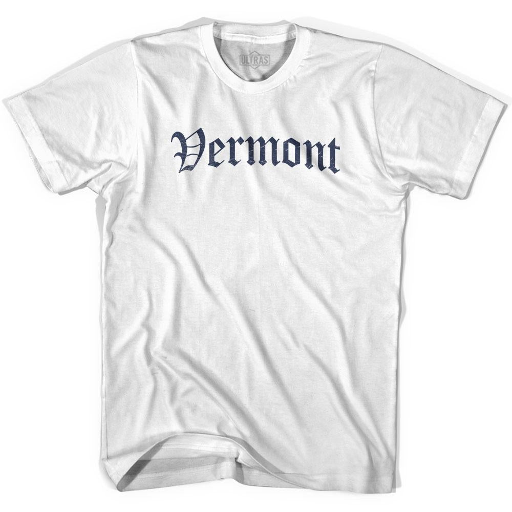 Womens Vermont Old Town Font T-shirt By Ultras