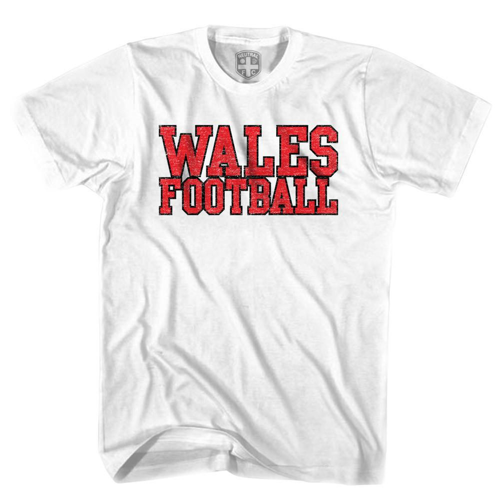 Wales Football Country T-shirt in White by Neutral FC