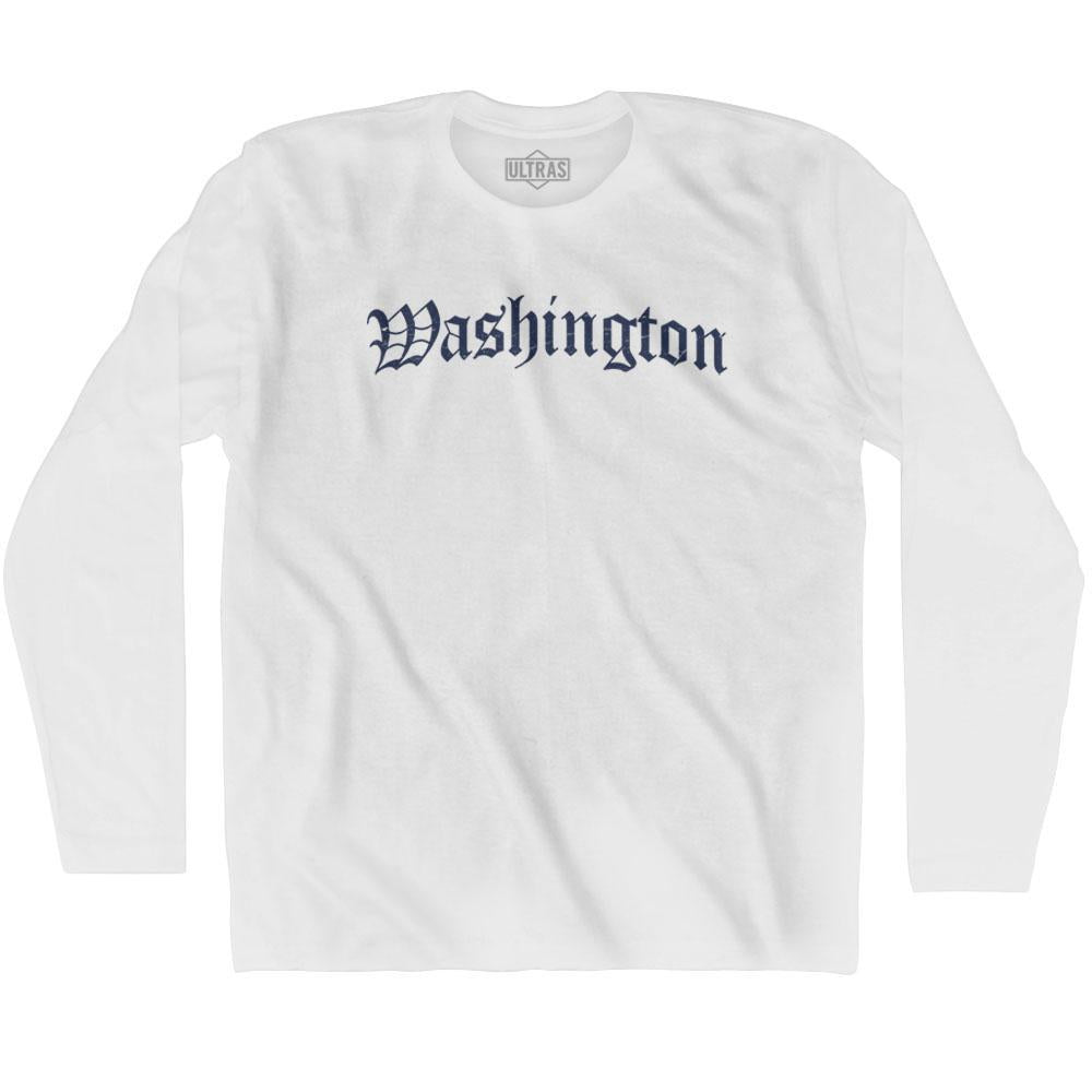 Washington Old Town Font Long Sleeve T-shirt By Ultras