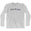 West Virginia Old Town Font Long Sleeve T-shirt