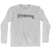 Wyoming Old Town Font Long Sleeve T-shirt