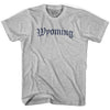 Womens Wyoming Old Town Font T-shirt