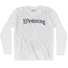 Wyoming Old Town Font Long Sleeve T-shirt By Ultras