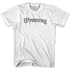 Womens Wyoming Old Town Font T-shirt By Ultras