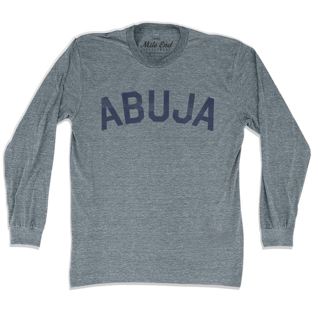 Abuja City Vintage Long Sleeve T-shirt in Athletic Grey by Mile End Sportswear