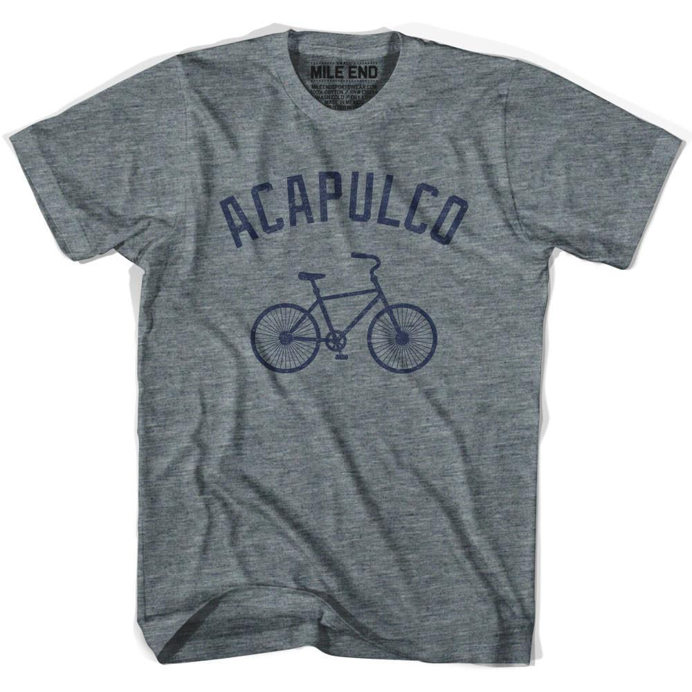 Acapulco Vintage Bike T-shirt in Athletic Grey by Mile End Sportswear