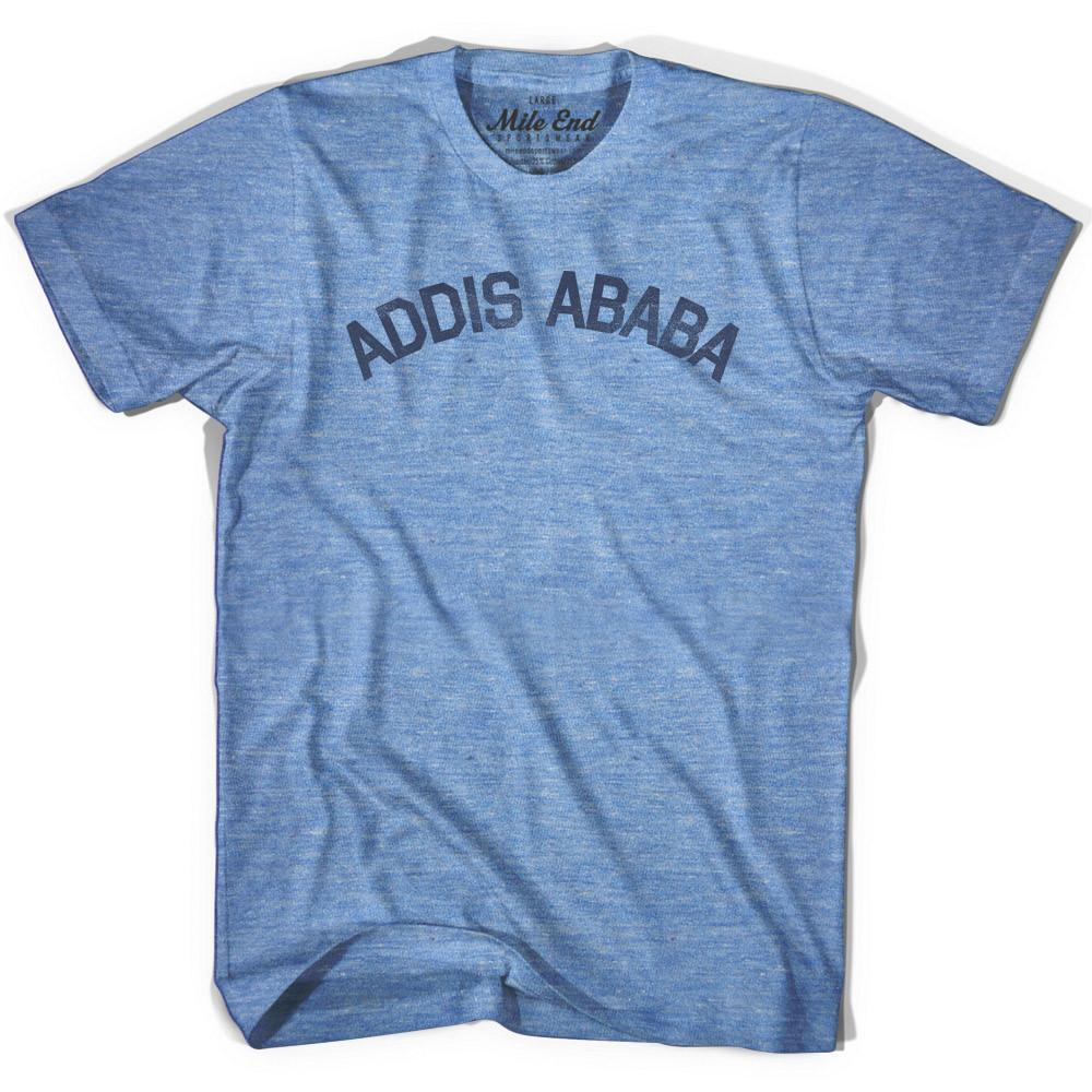 Addis Ababa City Vintage T-shirt in Athletic Blue by Mile End Sportswear