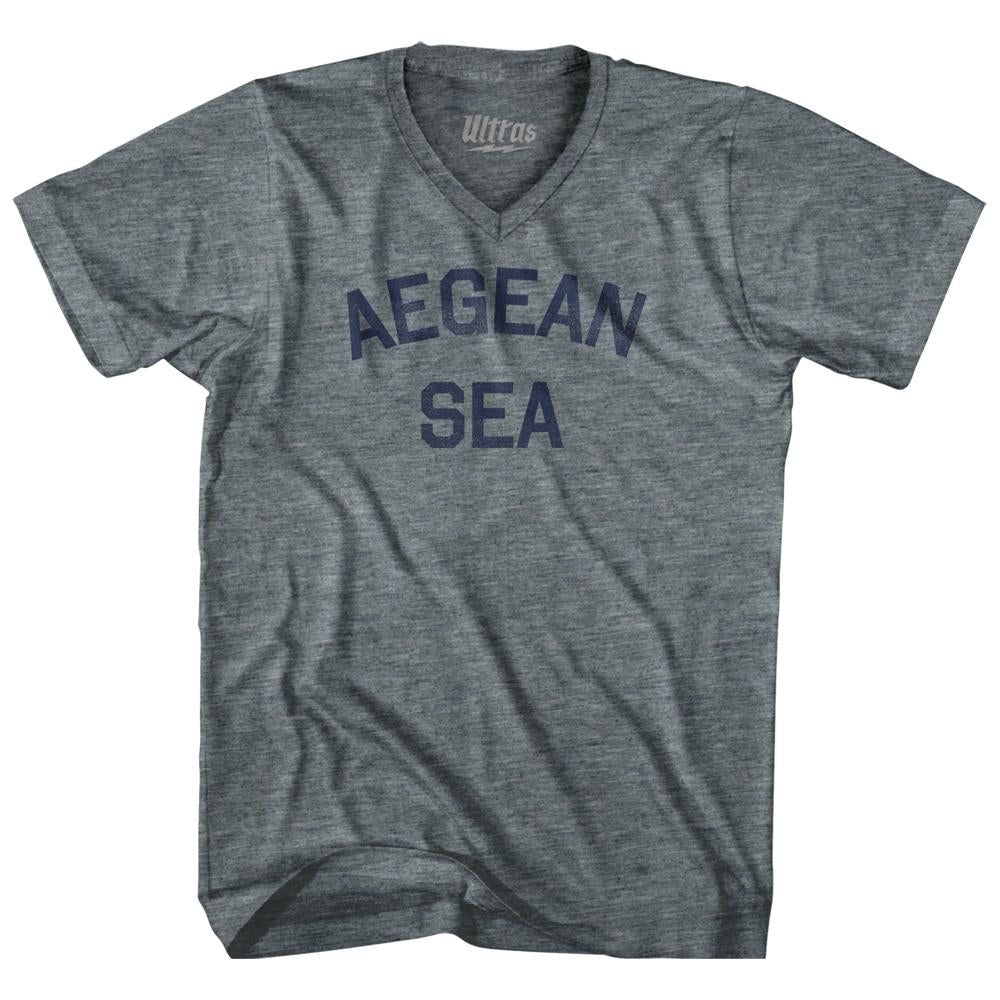Aegean Sea Adult Tri-Blend V-Neck T-Shirt