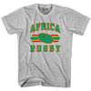 Africa Rugby Ball 90's Rugby Ball T-shirt in White by Ruckus Rugby